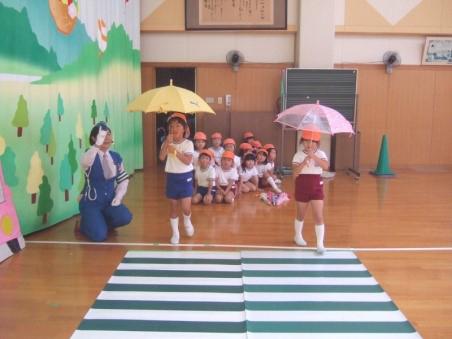 9月 始業式・祖父母参観会・交通教室・防犯教室